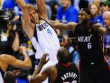 Nowitzki, Lebron James y Anthony en el Dallas - Miami Heat