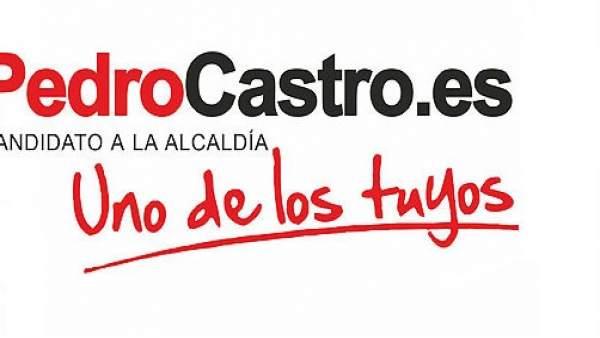 Pedro Castro, en un cartel electoral de su época como alcalde socialista.