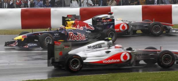 Choque entre Hamilton y Webber
