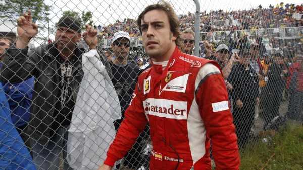 Fernando Alonso tras su accidente
