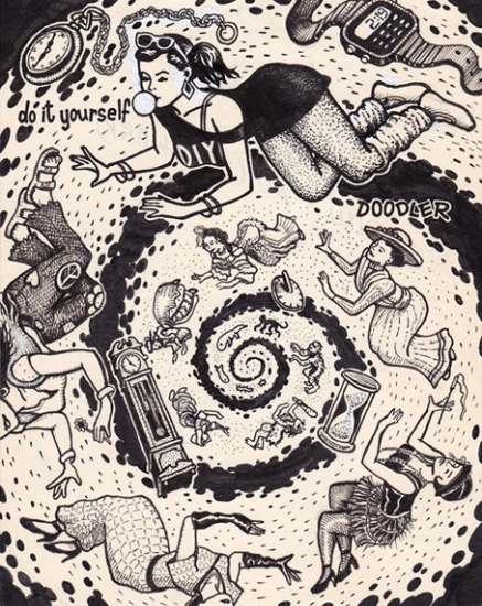 Foto diyd 20 timewarp un dibujo ertico inacabado y las diyd 20 timewarp esta espiral de tiempo es la ilustracin preferida del artista solutioingenieria Gallery