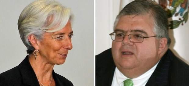 Christine Lagarde y Agustín Carstens