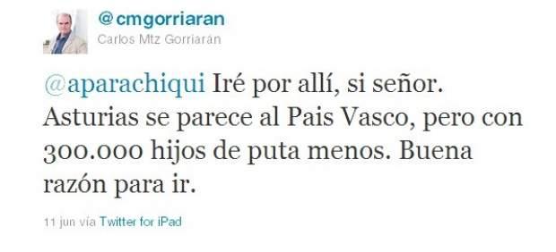 Twitter de Carlos Martínez Gorriarán