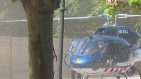 El helicóptero que ha llevado a Artur Mas al Parlament