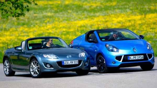 Mazda MX-5 y Renault Wind