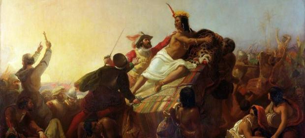 'Pizarro Seizing the Inca of Peru'