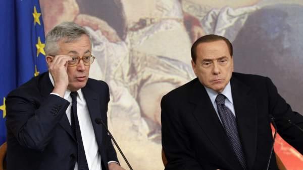 Silvio Berlusconi y Giulio Tremonti