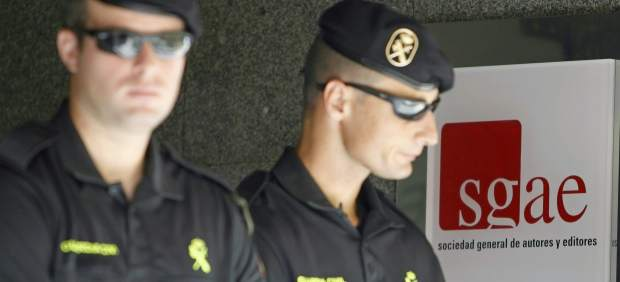 La Guardia Civil registra la SGAE