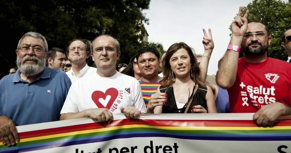 Bibiana Aído, en el Orgullo Gay