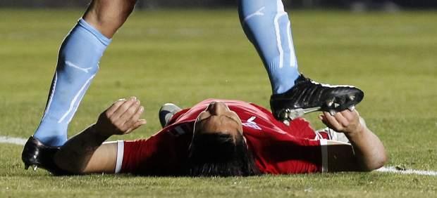 Diego Lugano y Paolo Guerrero en la Copa de América