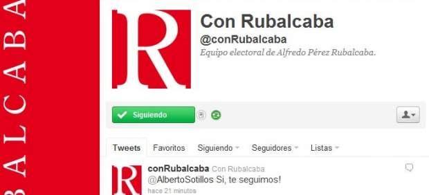 Rubalcaba ya está en Twitter y Facebook