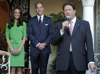 En la recepción del embajador