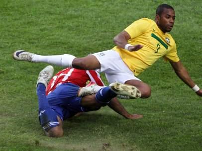 Robinho en el Brasil - Paraguay