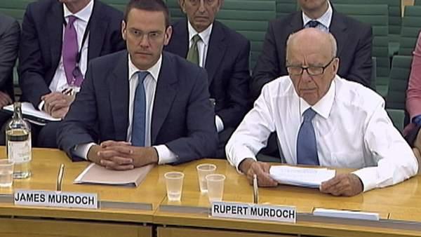 James y Rupert Murdoch