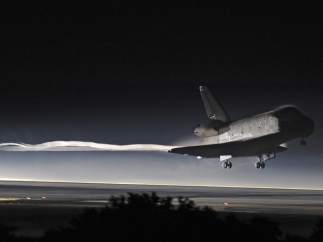 El Atlantis aterriza