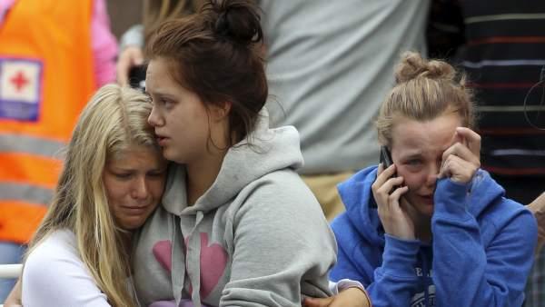 Amigos y familiares de las víctimas de Utøya