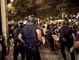 Carga policial en Madrid