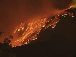 El cráter más activo del Etna