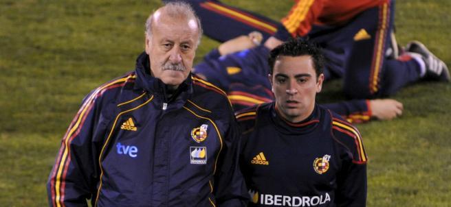 Del Bosque y Xavi