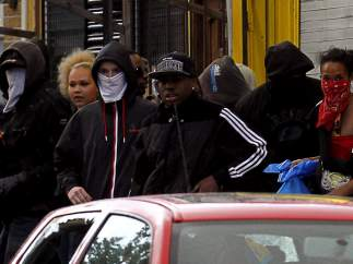 Jóvenes de las revueltas en Londres