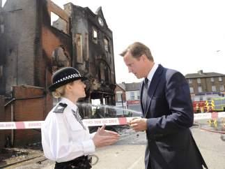 Cameron, en la zona afectada