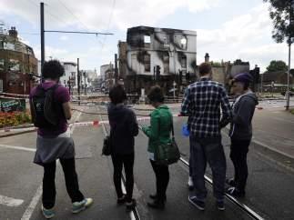 Protestas en Croydon