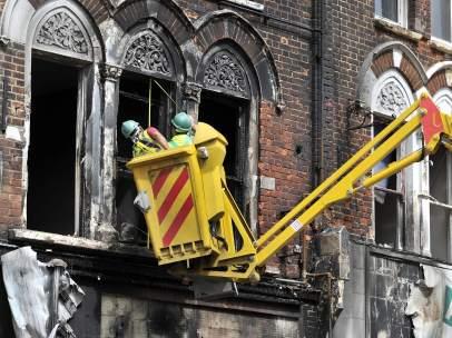 Destrozos en Londres
