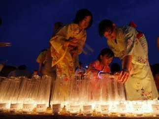 Recuerdo al terremoto japonés