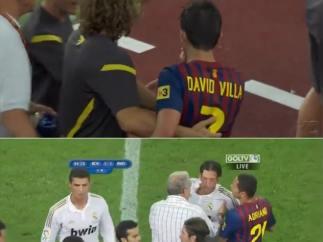 Separan a Ozil y Villa