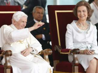 Con la reina, doña Sofía