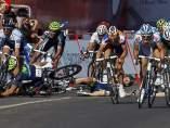 Caída en el sprint de la séptima etapa