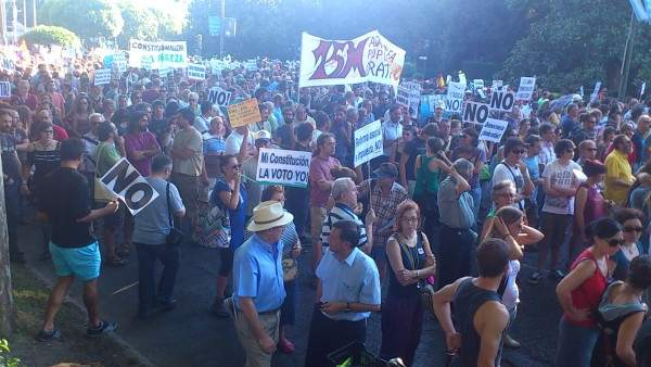 """""""Queremos referéndum"""", en el 28A"""