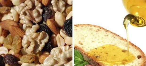 Frutos secos y aceite de oliva