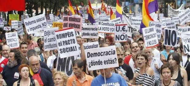 Manifestación contra la reforma constitucional