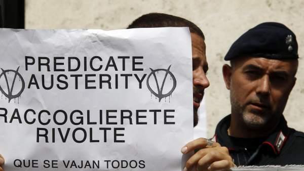 Protestas en Roma