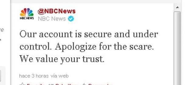 'Hackean' el twitter de la NBC para anunciar un falso ataque terrorista en Nueva York