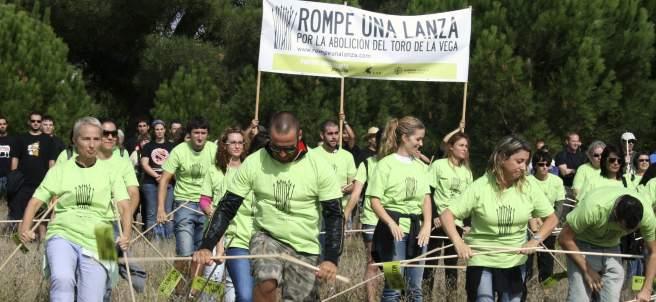 Manifestación contra el 'Toro de la Vega'