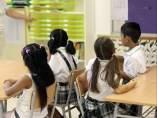 Alumnos del colegio Màrius Torres de Hospitalet de Llobregat.