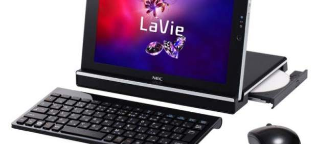 NEC lanzará un híbrido de tableta y portátil con teclado, ratón y lector de DVD incluidos