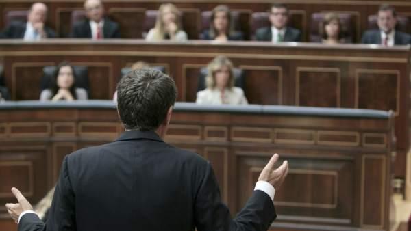 José Luis Rodríguez Zapatero, en el Congreso