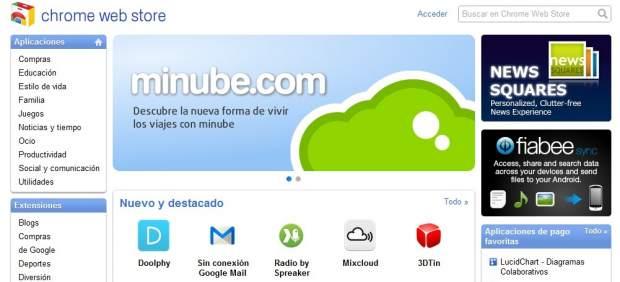 Llega a España la tienda de aplicaciones de Chrome, el navegador web de Google
