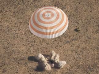 Aterrizaje de los astronautas de la Soyuz