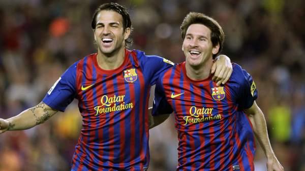 Cesc y Messi
