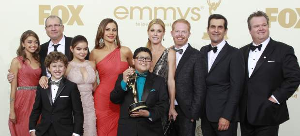 El reparto de Modern Family, ganador en los Emmy
