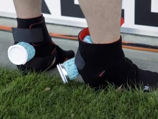 Bolsas de hielo en los pies