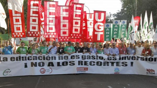 Marcha por la educación en Madrid