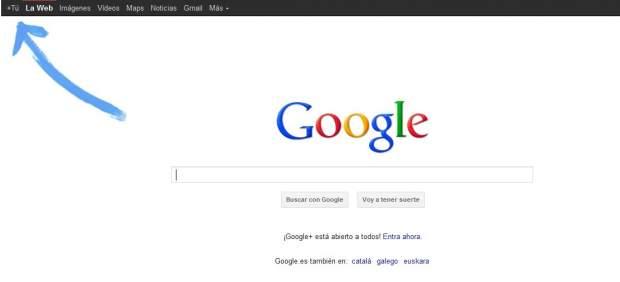 Google señala el camino a Google+ con una gran flecha