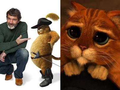 Antonio Banderas y 'El gato con botas'