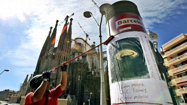 El cartel, de Miquel Barceló, anuncia la corrida de La Monumental.