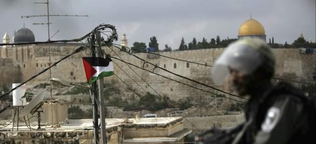 Bandera palestina en Israel